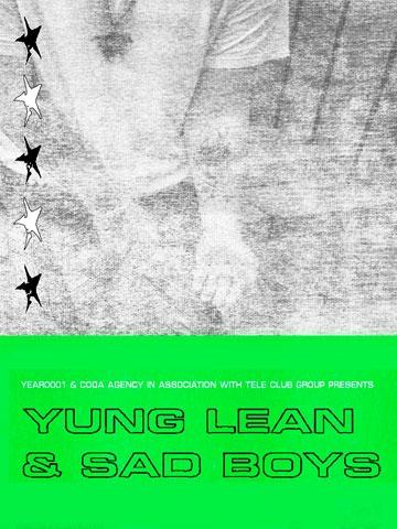 Yung Lean & Sad Boys (Концерты и шоу). Teleclub. Билеты в наличии: 1200.00 руб. Свободных мест: 170